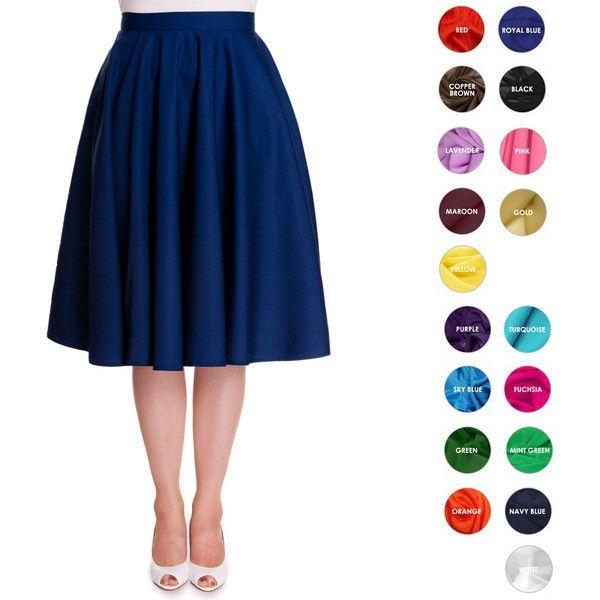 Custom Skirt Circle Skirt Midi Skirt Mini Skirt Custom Length with... (45 CAD) ❤ liked on Polyvore featuring skirts, mini skirts, plus size mini skirts, midi skirt, white mini skirt, flared midi skirt and short mini skirts