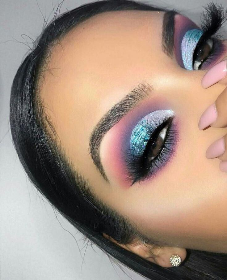 purple and blue eye shadow colourful eye look these colours