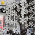 30 Stks Wit Sneeuwvlok Ornamenten Vakantie Festival Party Woondecoratie Decoracion Navidad Nieuwjaar Gift