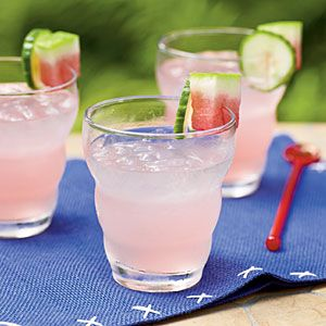Watermelon and Cucumber Tonic - refreshing but not-too-sweet gin and tonic.  Would go nicely with the dark and stormy!