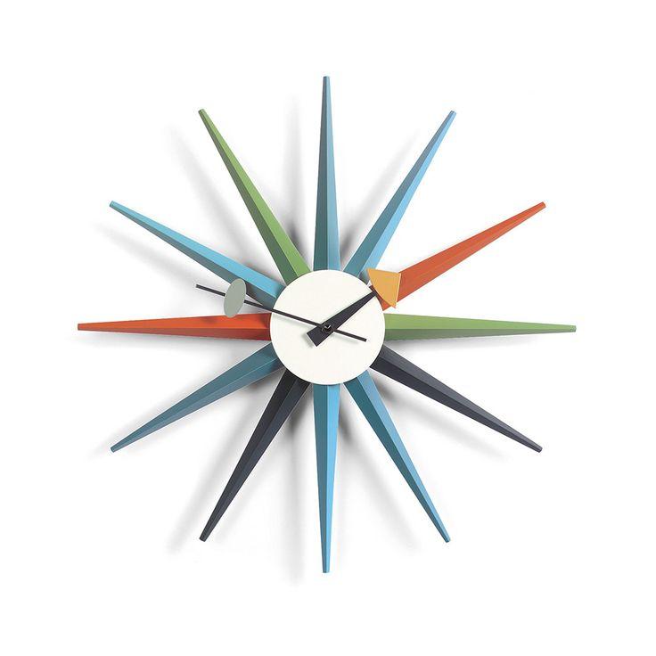 Discover the Vitra Sunburst Clock  - Multi-coloured at Amara