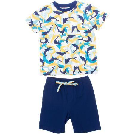 PlayToday Комплект: футболка и шорты для мальчика PlayToday  — 986р.  Комплект: футболка и шорты для мальчика PlayToday   Состав: 95% хлопок, 5% эластан   Комплект из хлопковой футболки и шорт.  Шорты с двумя функциональными карманами.  На поясе широкая резинка.