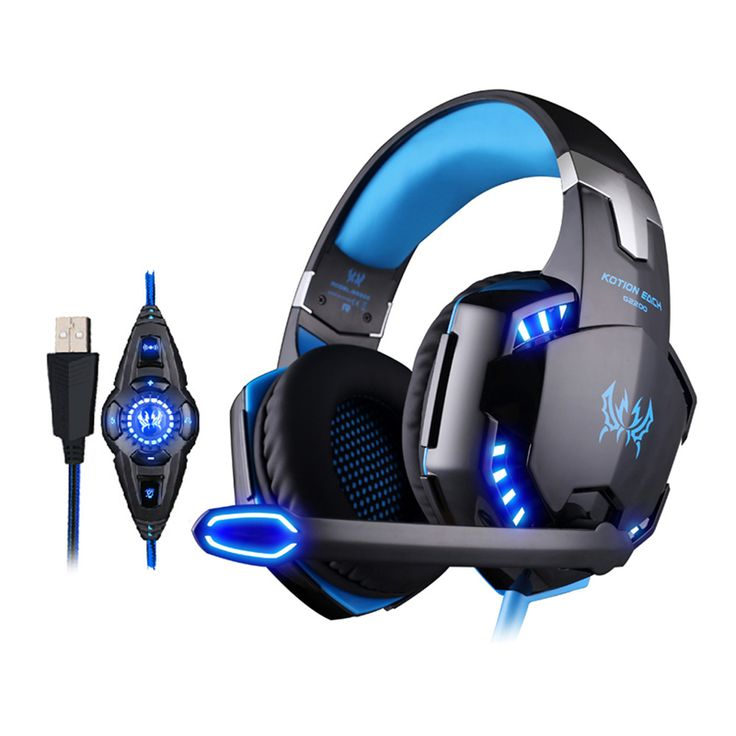 EACH G2200 USB gaming headset Vibration 7.1 Virtual Surround Sound Headphones with microphone led light for G2000 PRO pc gamers