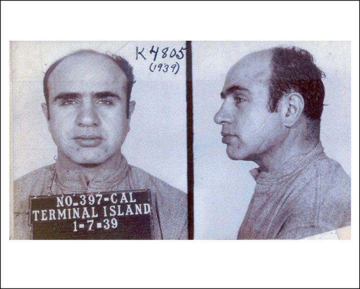 Al capone mugshot 1939 rare photo print