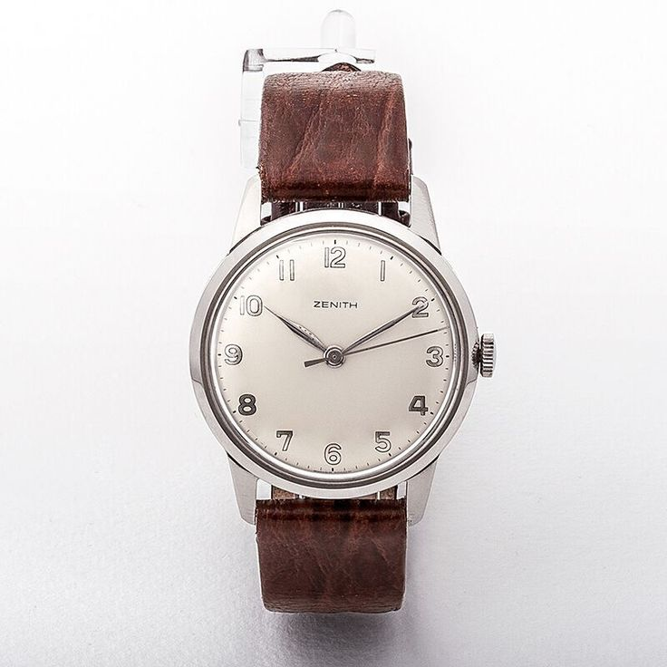 Gents Zenith Round Silver Dial with Arabic Numerals Watch