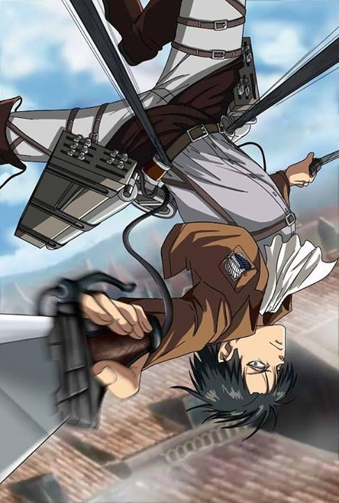 Shingeki no Kyojin - Levi heichou and his spinning technique
