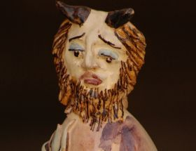 The devils II - Majolica and ceramic Statuette made entirely with clay sculpted, molded and painted by hand, cooking in the oven at more than 1,000 degrees. #madeinitaly #artigianato