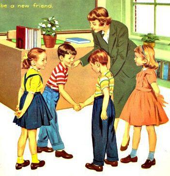 Vintage Childrens School Book Illustration 1960 #primers #vintagebooks #vintageschoolbooks #schoolbooks #readers