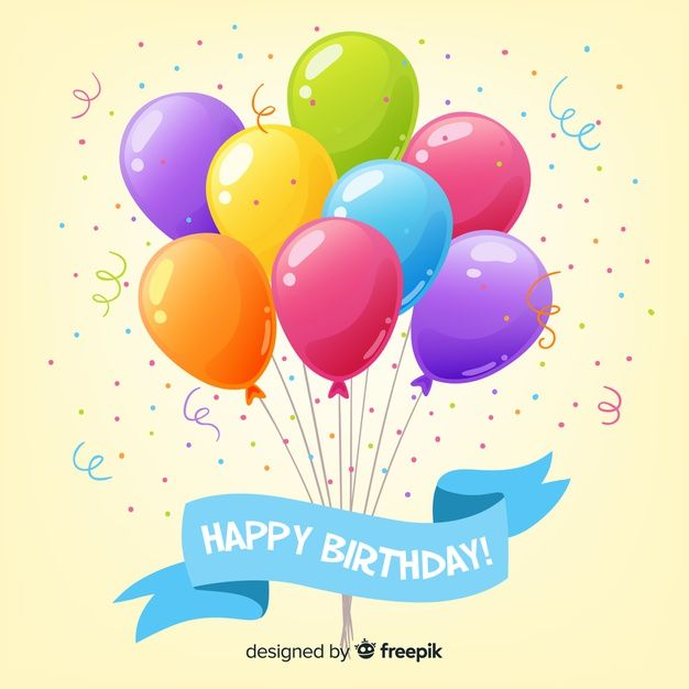 Download 2d Birthday With Balloons Background For Free Happy