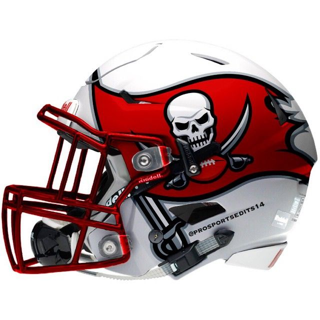 Tampa Bay Buccaneers white concept design NFL football helmet