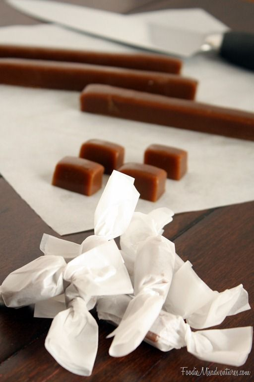 Gingerbread Caramels ~ Sweet and chewy caramels full of festive ...