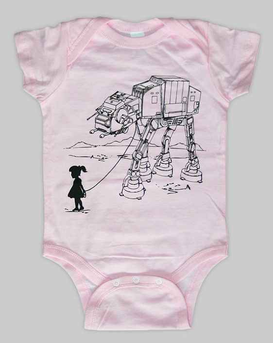 This Star Wars onesie is where it's AT-AT.