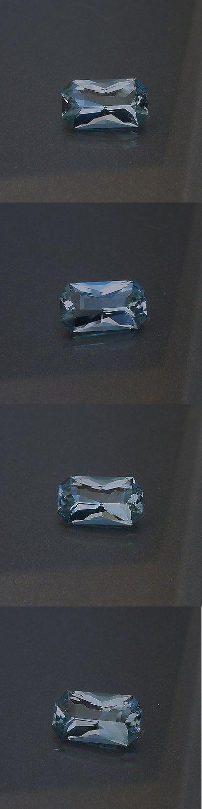Aquamarine 10200: Medium-Light Blue Aquamarine 2.46 Carats Usa Precision Cut BUY IT NOW ONLY: $245.0