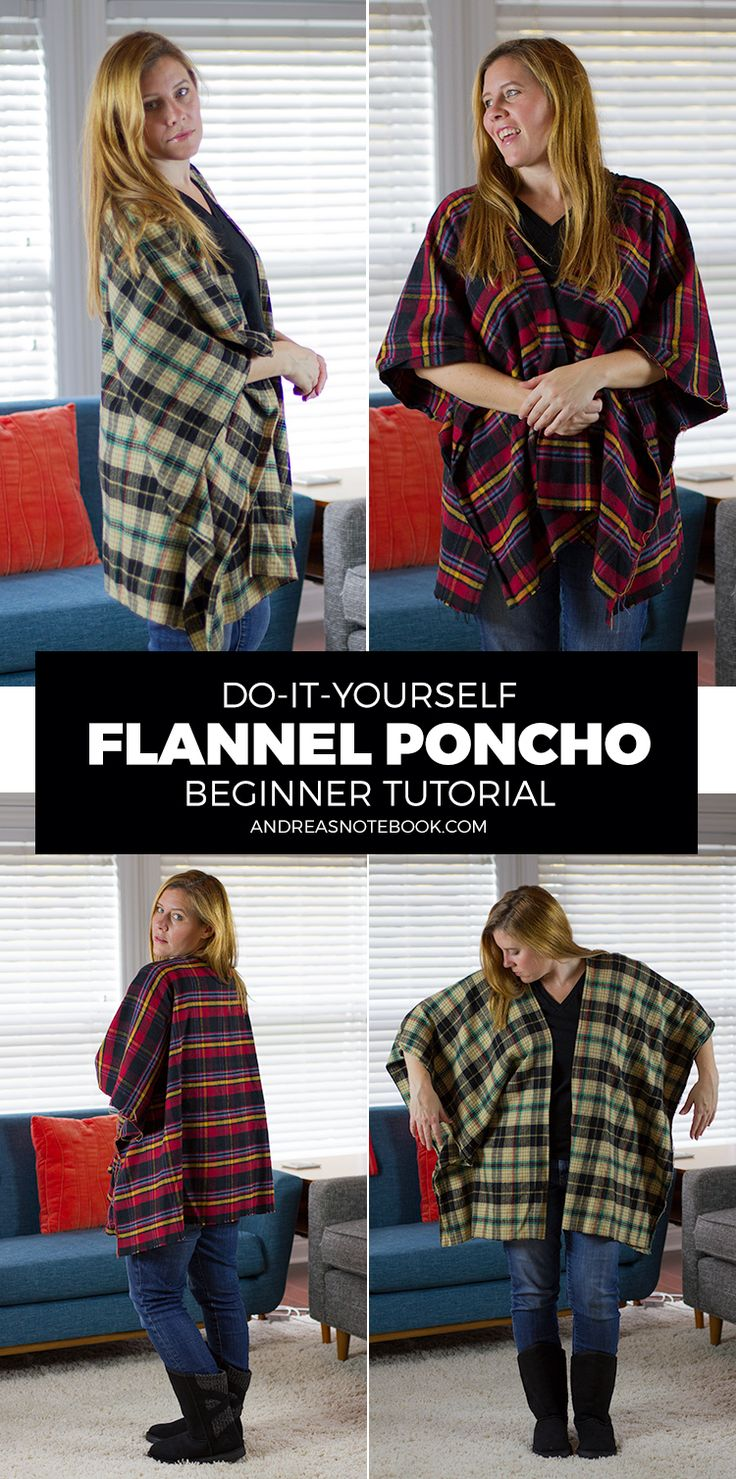 890 best diy upcycling ideas images on pinterest sewing projects diy flannel poncho tutorial payless solestyle ad solutioingenieria Gallery