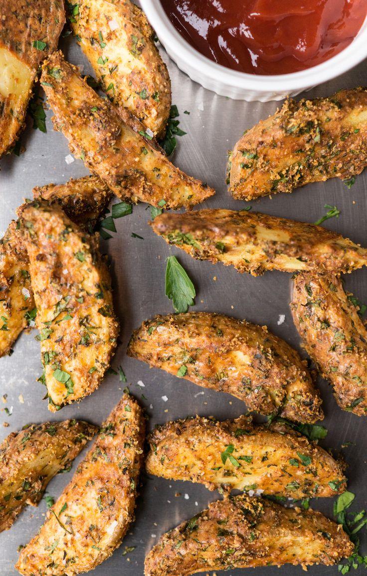 aardappeltjes uit de oven met knoflook en parmezaan
