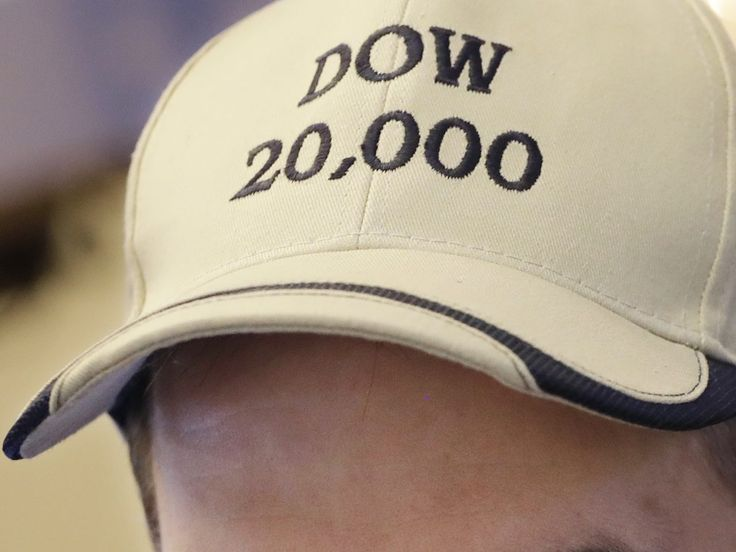 The Dow Jones Industrial Average broke through 20,000 points for the first time on Wednesday morning, continuing the Trump bounce.