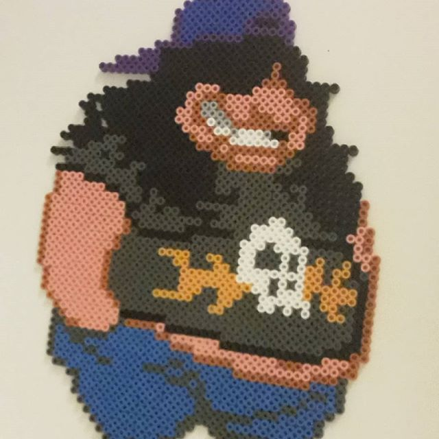 Hoagie - Day of the Tentacle hama beads by dutchbeading
