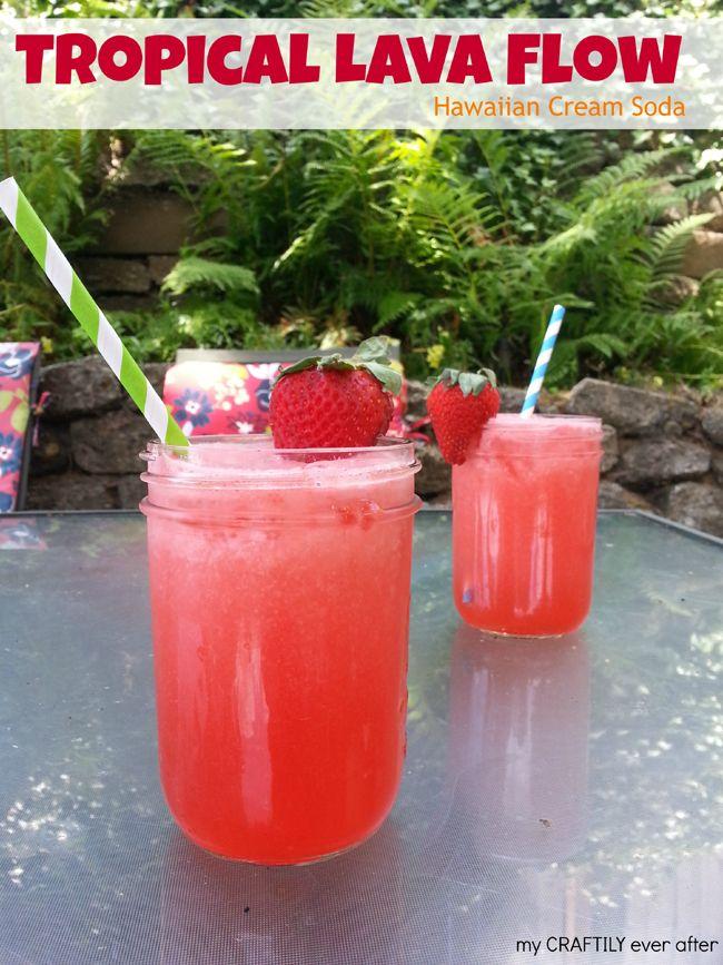 Tropical lava flow hawaiian soda via My Craftily Ever After