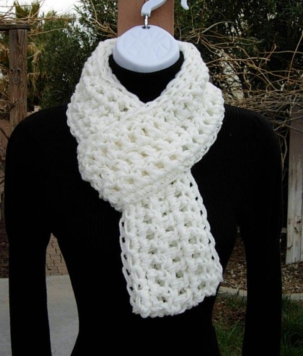 7b80b1e22 Light Off White Crochet INFINITY SCARF, Winter Cowl, Loop Scarf, Chunky  Knit Circle Scarf Thick Acrylic Neck Warmer, Ready to Ship in 3 Days