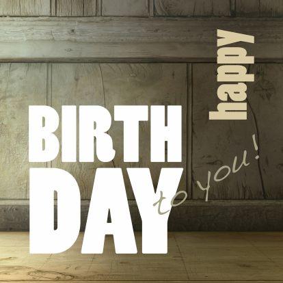 Verjaardagkaart Happy Birthday Hout 1