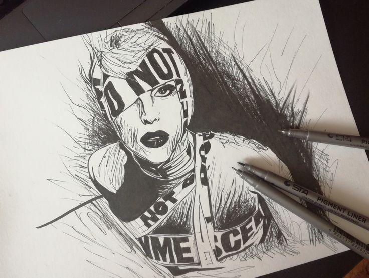 🎙 Lady Gaga 🎤. Рисунок маркерами.  #набросок #sketch #рисунок #Olcher #ОльЧер #art🎨  #art #tattoo #эскизтату  #tattoosketch #рисуюназаказ  #tattooolcher #татуольчер #тату  #arttattoo #эскиз #эскизытатуировок #ледигага #gaga #ladygaga #telephone #black #blackart