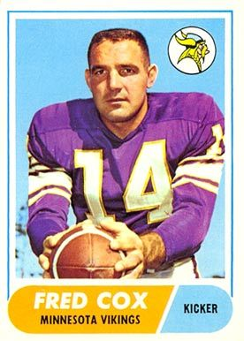 #43 Fred Cox 1968 Topps   #107