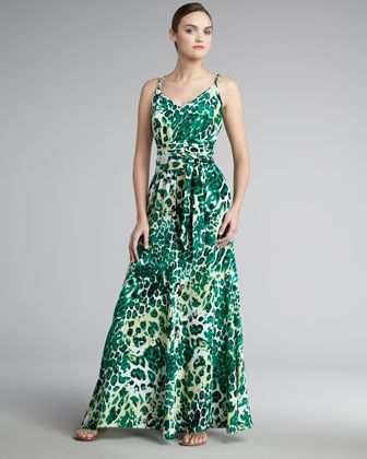 printed dress perfect for springtime: Leopardprint Maxi, Prints Dresses, Tello Leopardprint, Dresses Perfect, Prints Maxi Dresses, Leopards Prints Maxi, Tello Leopards Prints, Jay Godfrey, Godfrey Tello