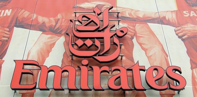 The Emirates logo at Arsenal's...