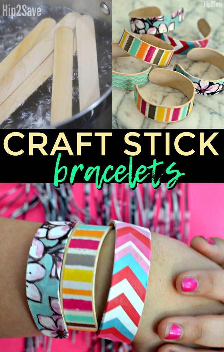 Turn ordinary craft sticks into cute wearable bracelets with this fun and unique kid's craft!