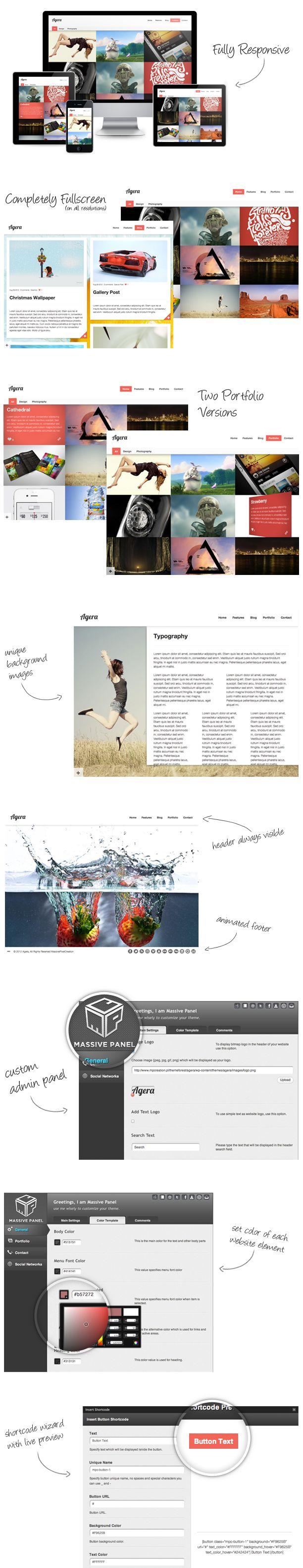 Agera WordPress Theme - Preview: Webdesign