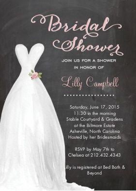 bridal shower invitation chalkboard pink bridal shower invitations cards by tumbalina snapfish