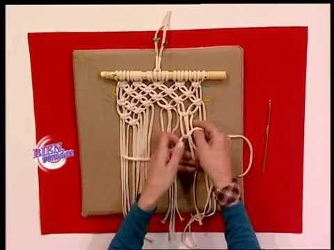 getlinkyoutube.com-Patricia Belvedere - Bienvenidas TV - Hace portamacetas con técnica en macramé.