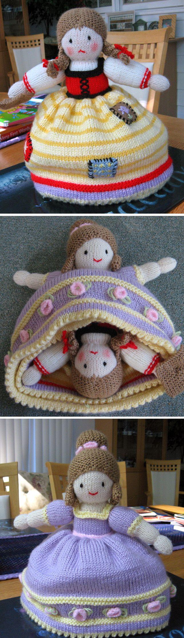 Knitting Pattern para Cinderella Topsy Turvy Doll - Cinderela pode ser transformada ...