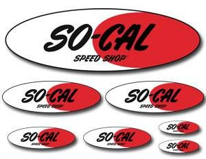 SO-CAL Speed Shop Logo Decal Sheet
