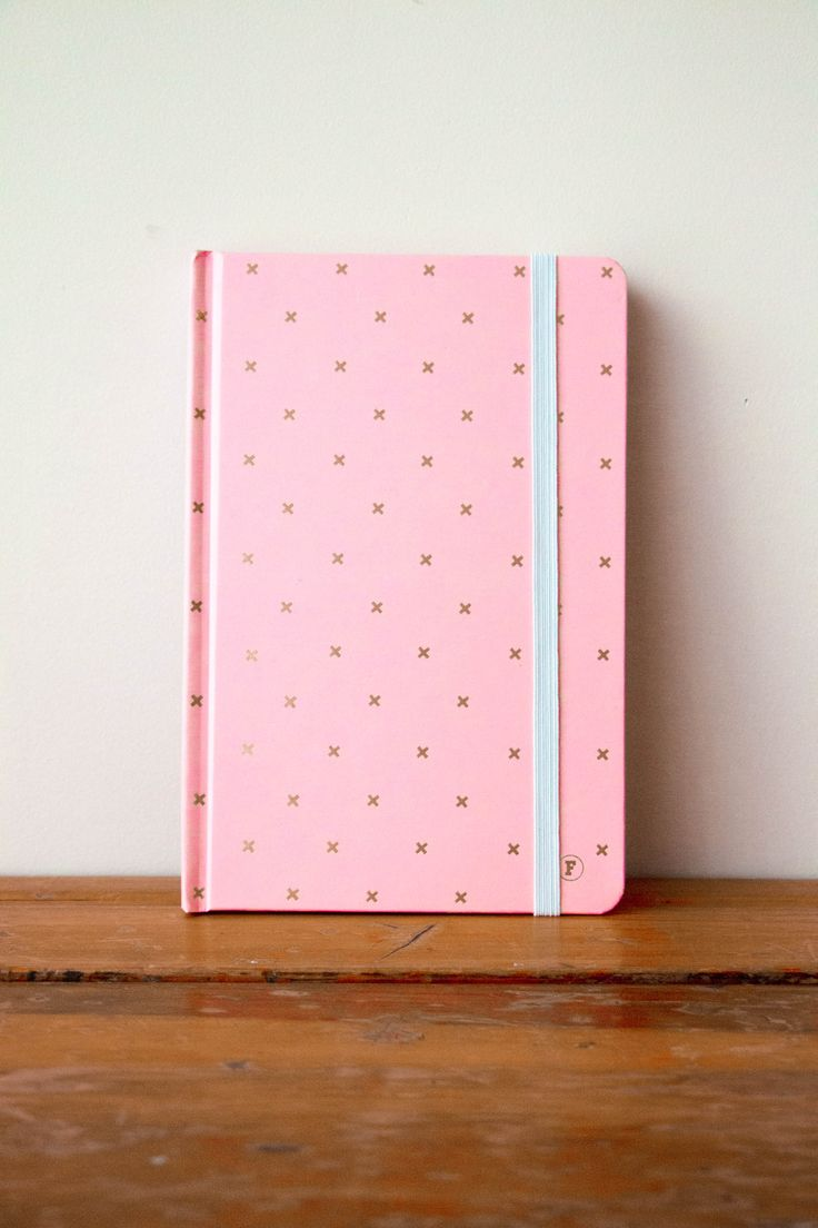 Pink/Gold Cross http://www.frankstationery.com/collections/journal