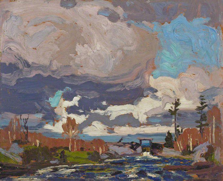 Tom Thomson Tea Lake Dam, 1917 Oil on Wood 21.3 x 26.2 cm