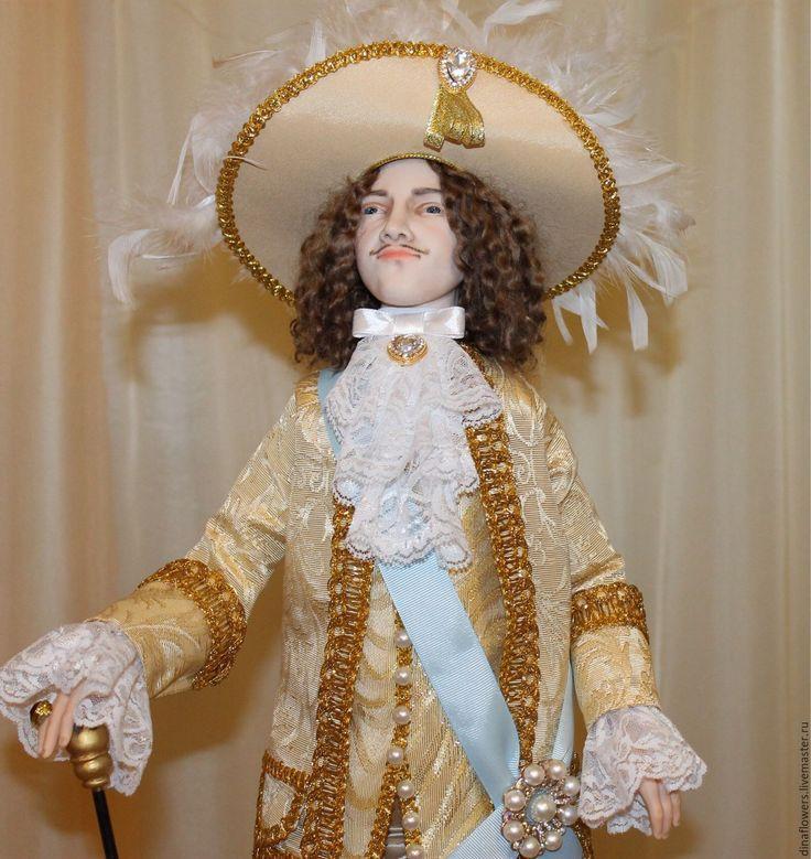 Купить Людовик XIV Король-Солнце - авторская кукла, коллекционная кукла, интерьерная кукла