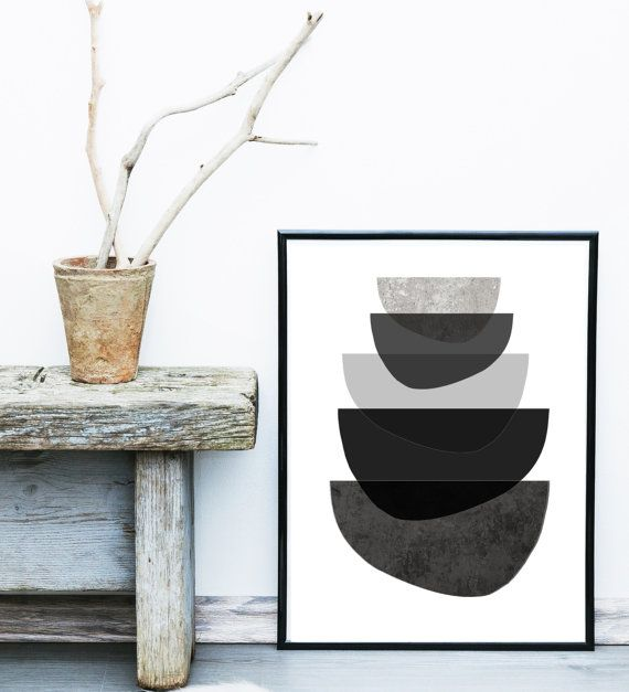 Scandinavian Print, Abstract Art Print, Mid Century Modern, Art Print,  Giclee print, Modern Wall Art,  Large Print, Abstract Art