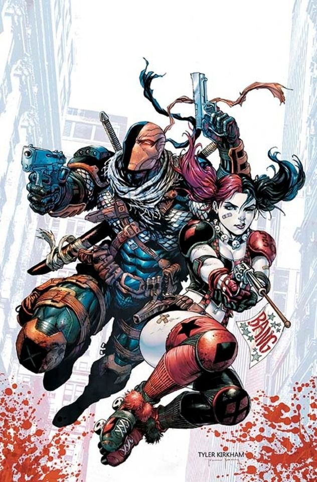 They are Bad guys, its what they do - Harley and Deathstroke