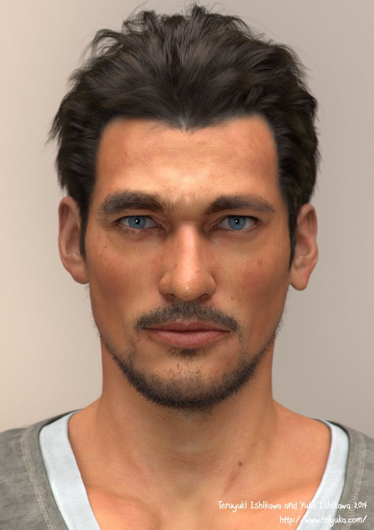 ArtStation - man's_portrait_01, Teruyuki and Yuka