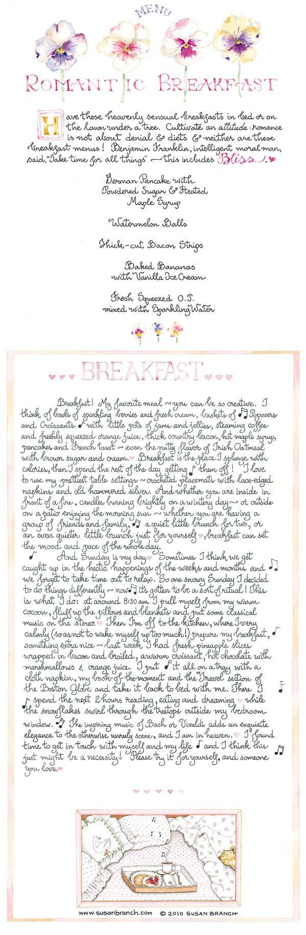 Breakfast in Bed by Susan Branch