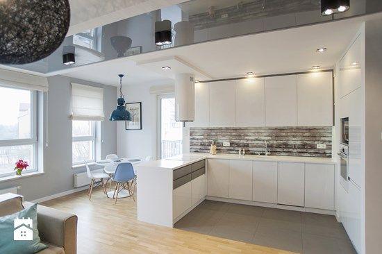 Fajna biała zabudowa aż do sufitu  Kuchnia  Pinterest  Do -> Kuchnia Biala Do Sufitu
