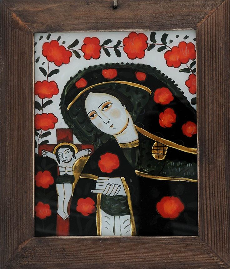 Romanian traditional icon on glass: the Mother of Christ (dolorosa)/ Icoana pe sticla Maica Domnului indurerata - http://www.librariabizantina.ro/icoana-pe-sticla-maica-domnului-indurerata.html  http://www.librariabizantina.ro/arta/icoane-pictate-pe-sticla.html
