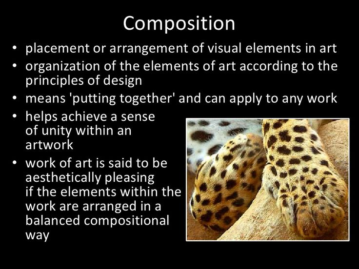 four elements of artistic composition This brief tutorial introduces the foundational elements of visual  in the top row ( the four compositions demonstrating hierarchy), the first three.