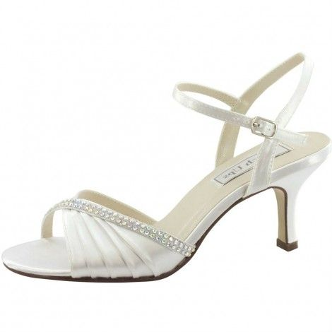 Val 536 by Touch Ups for Benjamim Walk White and Ivory Dyeable Wedding or Occasion Shoes