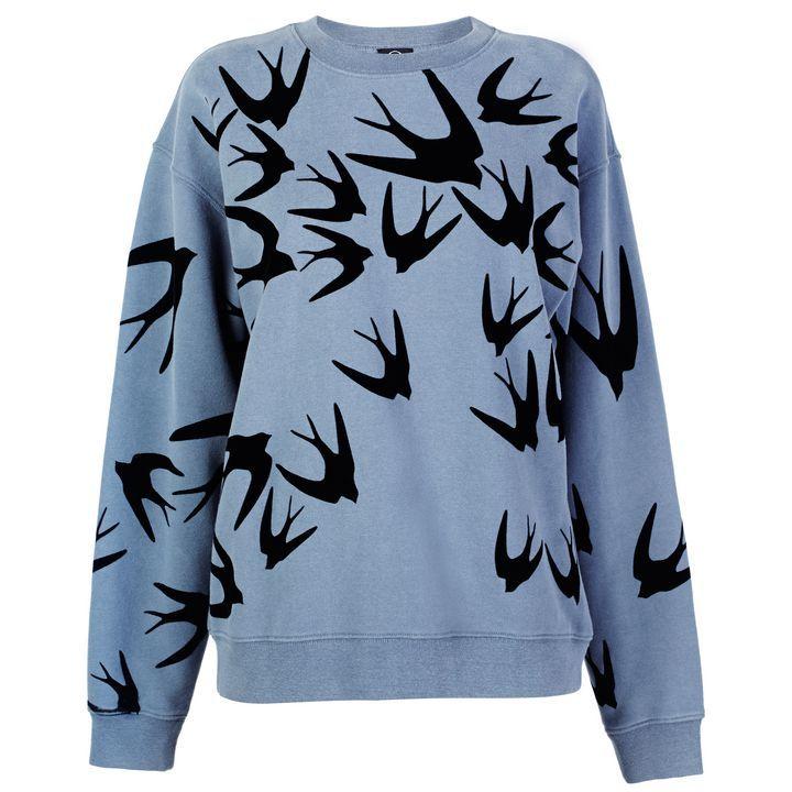 McQ Alexander McQueenSwallow Flock Print Sweatshirt