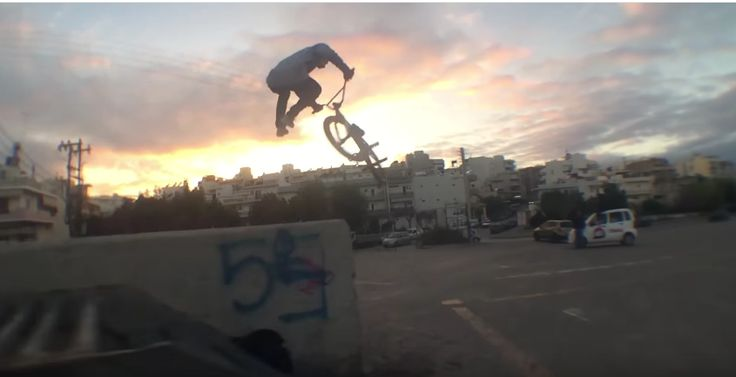 "Now this an awesome piece of BMX street riding straight from the sunny Greece! ""Kostas ""Petinari"" Manolakakis has been doing it for a while for Kink BMX but n"