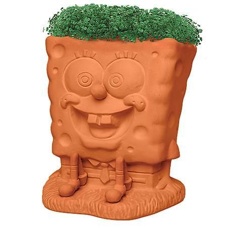 Chia Pet Sponge Bob Handmade Decorative Planter - 1 ea