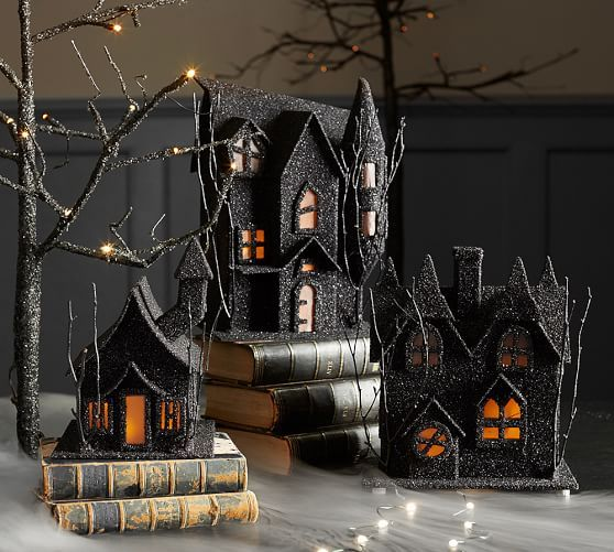 Get the Pottery Barn look for less with my DIY Pottery Barn Inspired Halloween House.