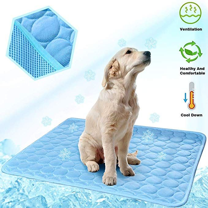 Meilimiyu Dog Cooling Mat Pet Self Cooling Pad Dog Cooling Blanket Washable Ice Silk Mat For Kennels Crates Beds Travel Couch Car Seat Review Dog Cooling Mat Dogs Cooling Blanket